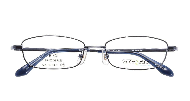 エアーフィットAF-6111F-C-2-52 [メタル/鯖江産/スクエア/青]  3