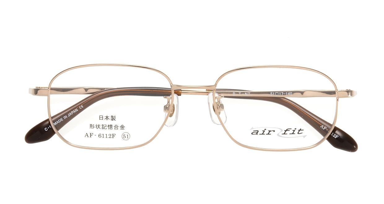 エアーフィットAF-6112F-C-1-51 [メタル/鯖江産/スクエア/ゴールド]  3