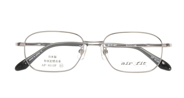 エアーフィット AF-6112-C-2 [メタル/鯖江産/スクエア/シルバー]  3