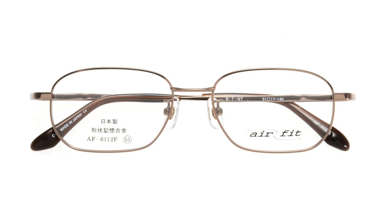 エアーフィットAF-6112F-C-3-51 [メタル/鯖江産/スクエア/茶色]  3