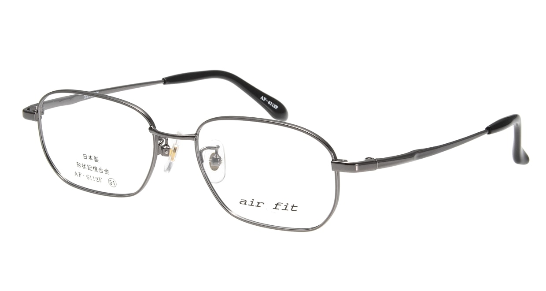 エアーフィットAF-6112F-C-4-51 [メタル/鯖江産/スクエア/グレー]
