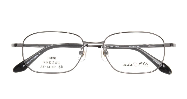 エアーフィットAF-6112F-C-4-51 [メタル/鯖江産/スクエア/グレー]  3