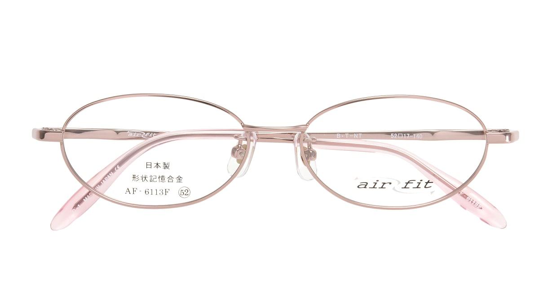 エアーフィット AF-6113-C-1 [メタル/鯖江産/オーバル/ピンク]  3