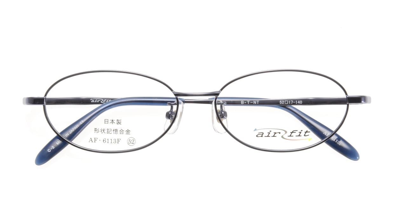 エアーフィットAF-6113F-C-2-52 [メタル/鯖江産/オーバル/青]  3