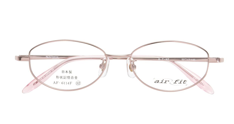 エアーフィットAF-6114F-C-1-52 [メタル/鯖江産/オーバル/ピンク]  3