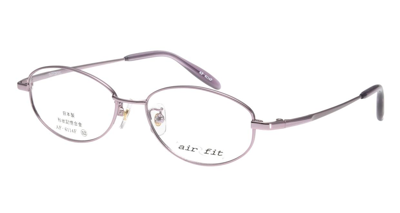 エアーフィット AF-6114-C-2 [メタル/鯖江産/オーバル/紫]