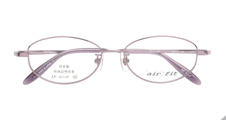 エアーフィット AF-6114-C-2 [メタル/鯖江産/オーバル/紫]  3