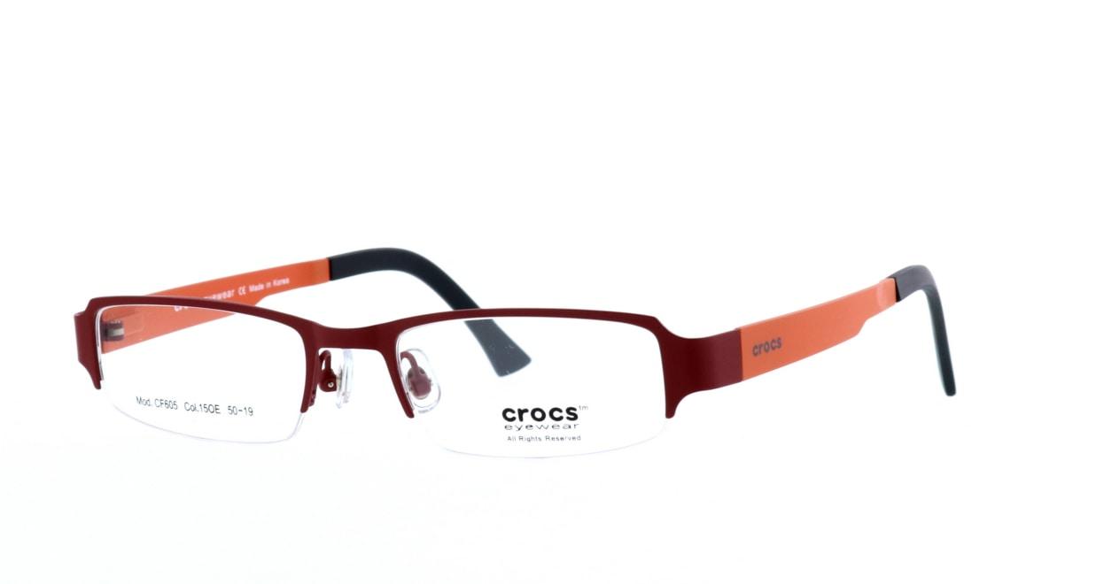 クロックスアイウェア CF605-15OE [メタル/ハーフリム/スクエア/赤]  1