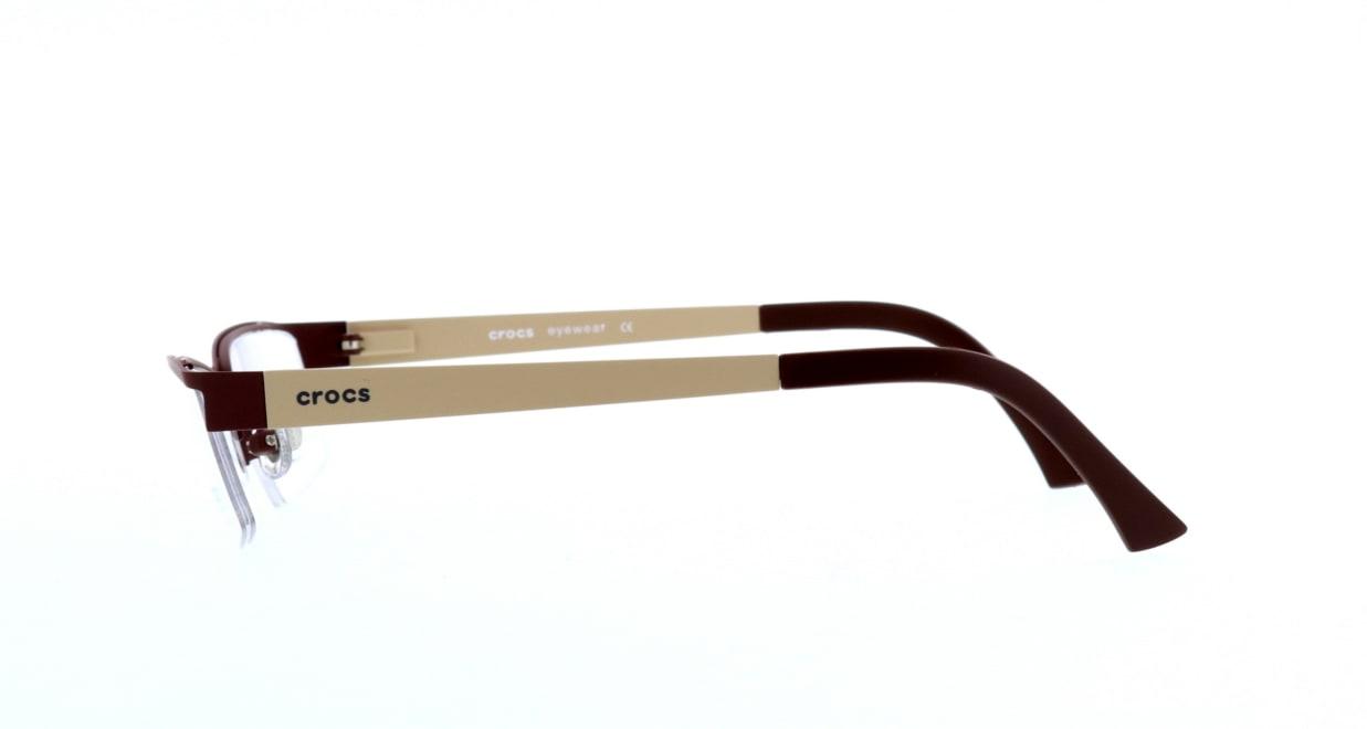 クロックスアイウェア CF607-40BN [メタル/ハーフリム/スクエア/茶色]  2