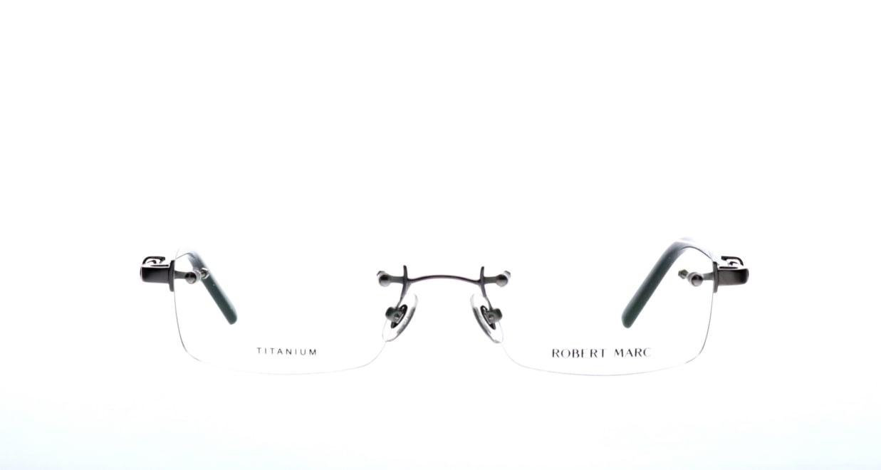 ロバートマーク 389-46 [メタル/鯖江産/縁なし/スクエア/シルバー]
