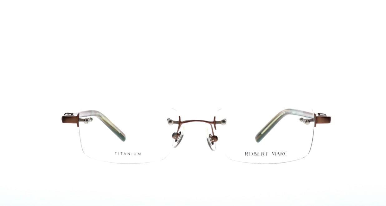 ロバートマーク 389-31 [メタル/鯖江産/縁なし/スクエア/茶色]