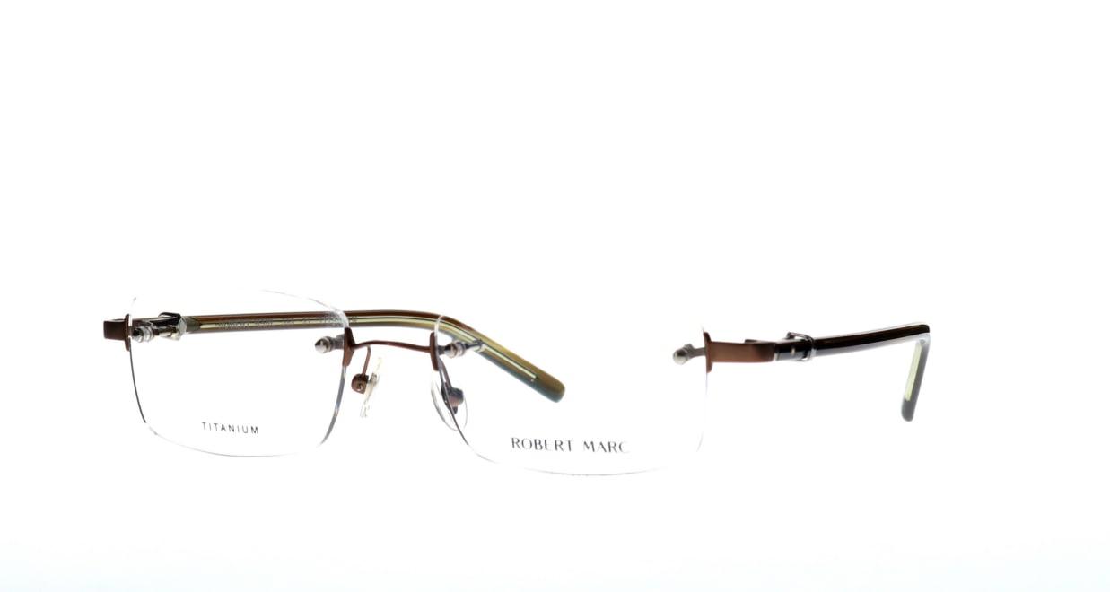 ロバートマーク 389-31 [メタル/鯖江産/縁なし/スクエア/茶色]  1