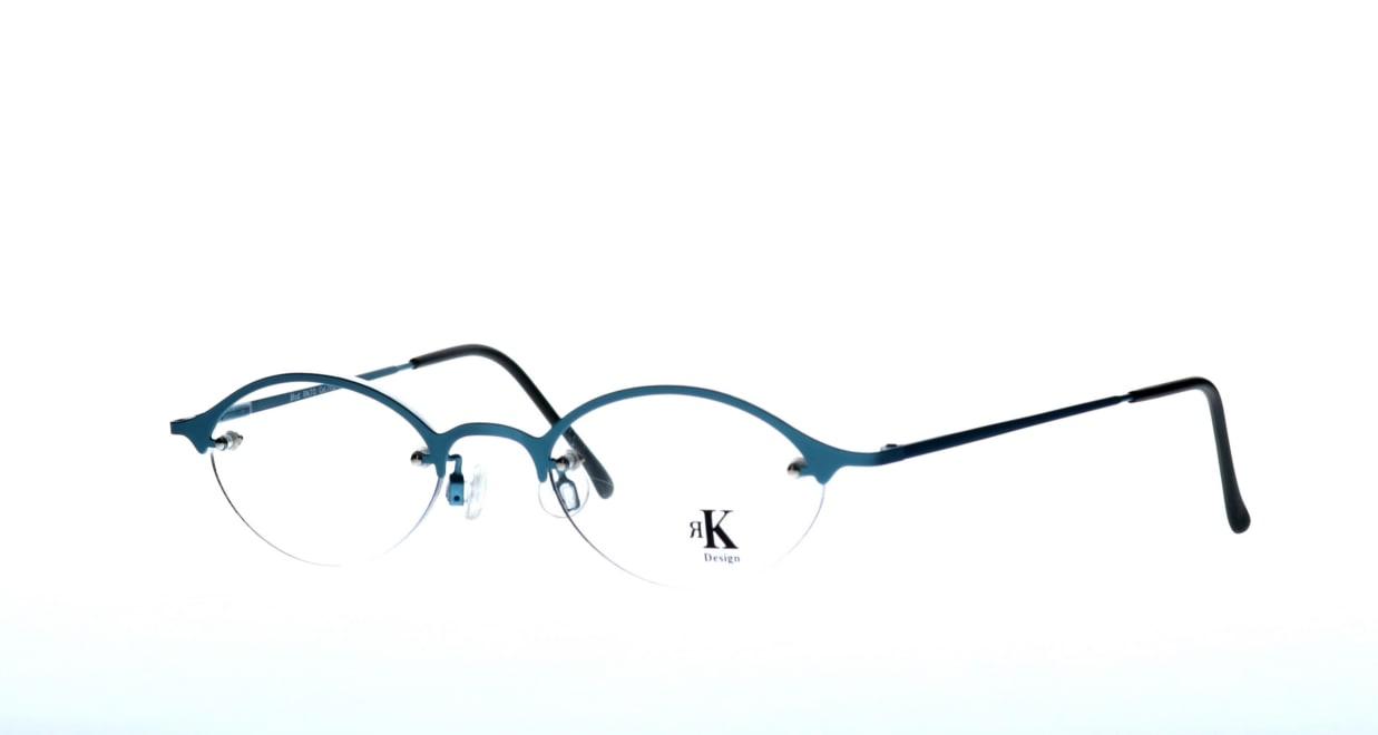 アールケーデザイン RK70-702 [メタル/ハーフリム/オーバル/青]  1