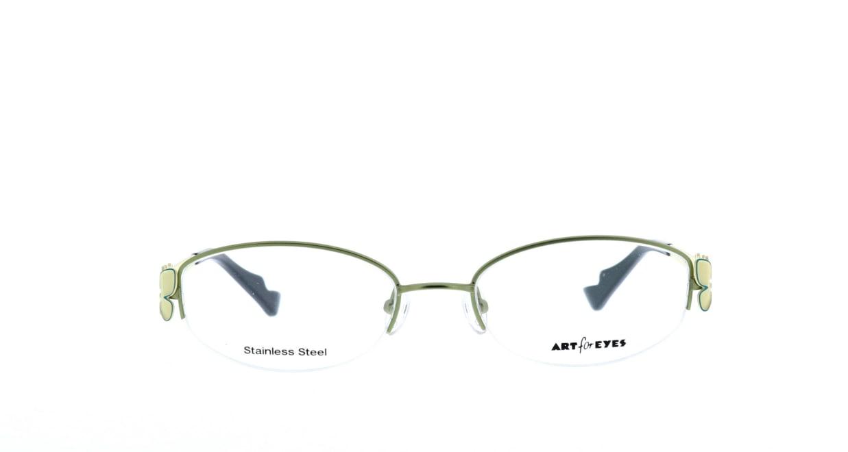 ミュニックアイウェア AE102-34 [メタル/鯖江産/ハーフリム/スクエア/緑]