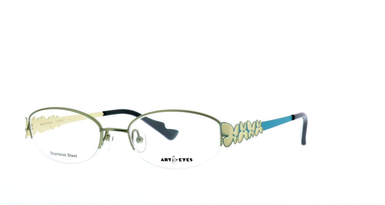 ミュニックアイウェア AE102-34 [メタル/鯖江産/ハーフリム/スクエア/緑]  1