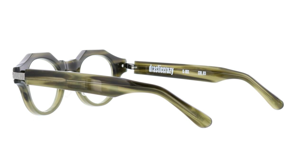 ドラスティック クレイジー G-10X-3-46 [鯖江産/丸メガネ/緑]  3