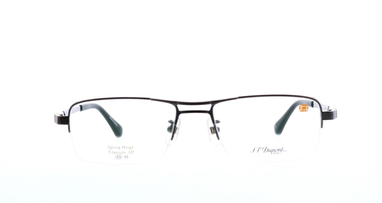 デュポン DP-3172-C-3-GR [メタル/鯖江産/ハーフリム/スクエア/グレー]