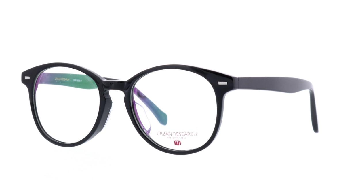 アーバンリサーチギフトレーベル URF-8006-1 [黒縁/丸メガネ/安い]  1