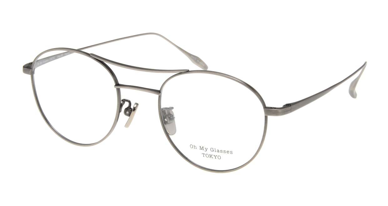 Oh My Glasses TOKYO Patrick omg-087-3-47 [メタル/鯖江産/丸メガネ/シルバー]