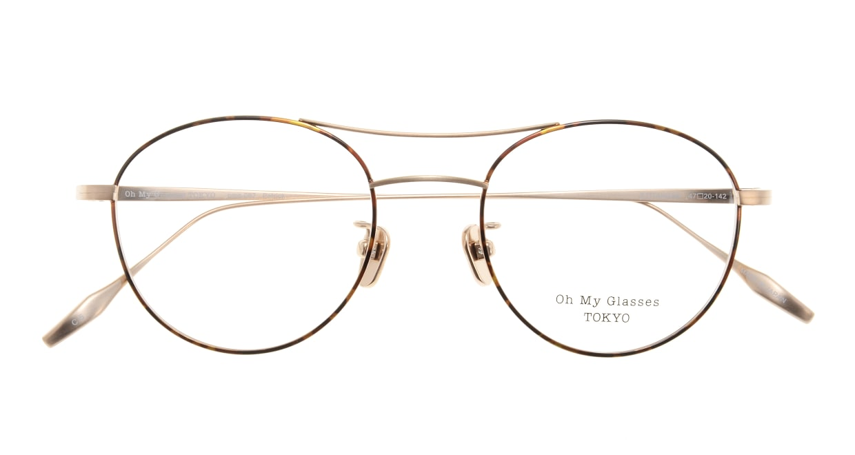 Oh My Glasses TOKYO Patrick omg-087-5-47 [メタル/鯖江産/丸メガネ/べっ甲柄]  3