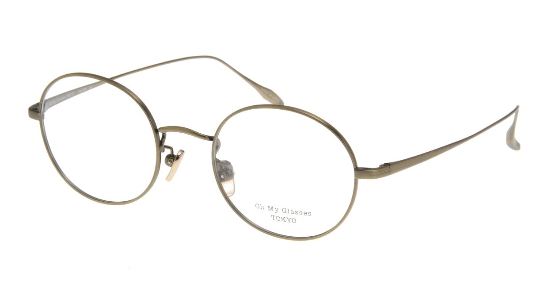 Oh My Glasses TOKYO Lia omg-088-2-48 [メタル/鯖江産/丸メガネ/ゴールド]