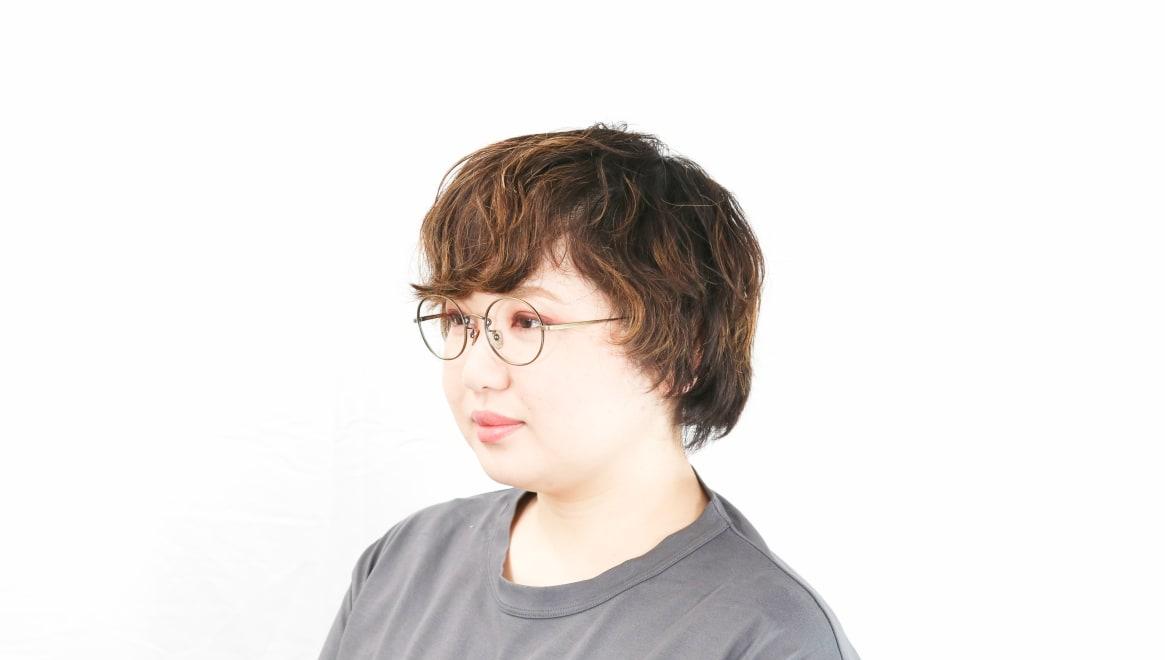 Oh My Glasses TOKYO Lia omg-088-2-48 [メタル/鯖江産/丸メガネ/ゴールド]  8
