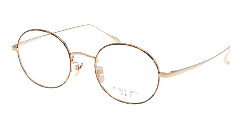 Oh My Glasses TOKYO Lia omg-088-5-48 [メタル/鯖江産/丸メガネ/べっ甲柄]