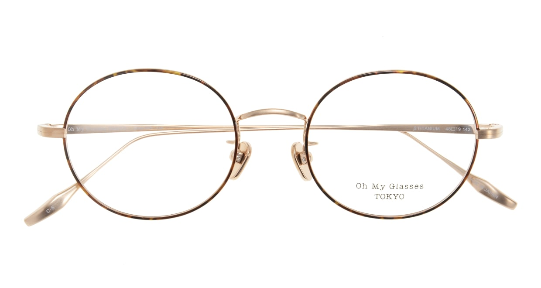 Oh My Glasses TOKYO Lia omg-088-5-48 [メタル/鯖江産/丸メガネ/べっ甲柄]  3