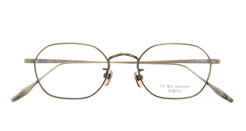 Oh My Glasses TOKYO Reggie omg-089-2-47 [メタル/鯖江産/スクエア/ゴールド]  3