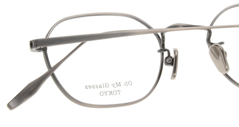 Oh My Glasses TOKYO Reggie omg-089-3-47 [メタル/鯖江産/スクエア/シルバー]  4