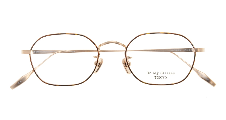Oh My Glasses TOKYO Reggie omg-089-5-47 [メタル/鯖江産/スクエア/べっ甲柄]  3