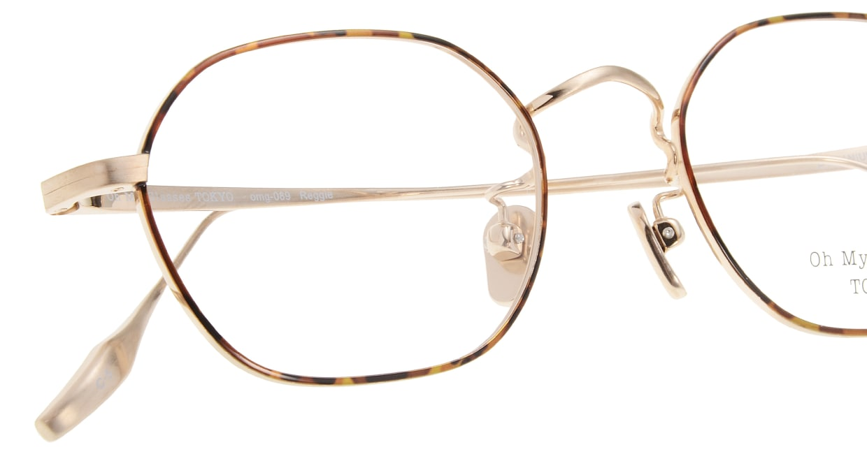 Oh My Glasses TOKYO Reggie omg-089-5-47 [メタル/鯖江産/スクエア/べっ甲柄]  4