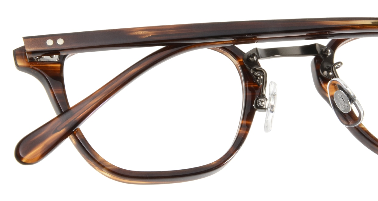 Oh My Glasses TOKYO Nelson omg-090-2-47 [鯖江産/ウェリントン/茶色]  4