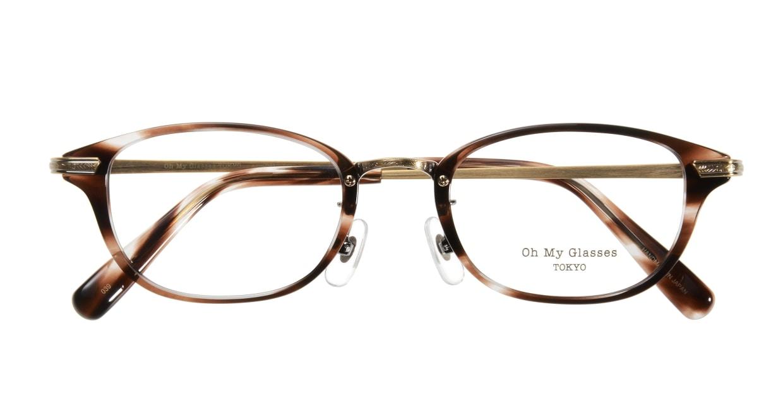 Oh My Glasses TOKYO Scott omg-091-18-12 [鯖江産/スクエア/茶色]  3