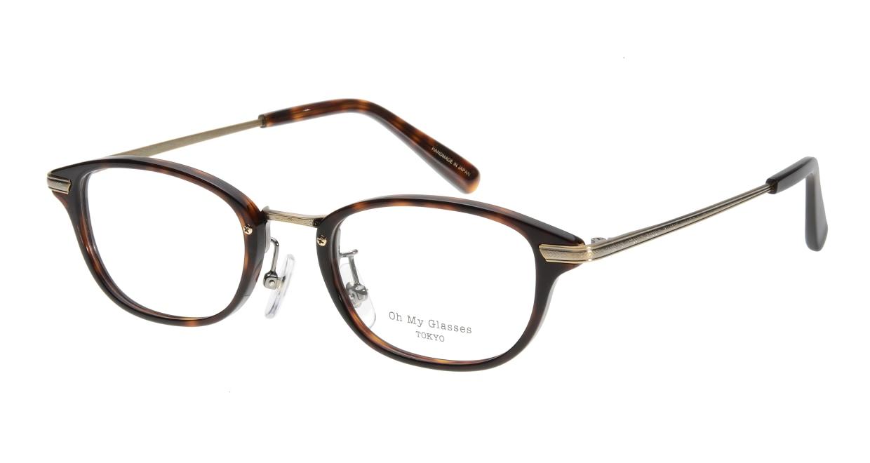 Oh My Glasses TOKYO Scott omg-091-20-12 [鯖江産/スクエア/べっ甲柄]