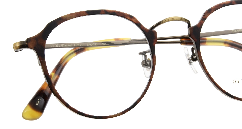 Oh My Glasses TOKYO Zoe omg-093-5-49 [メタル/鯖江産/丸メガネ/べっ甲柄]  4