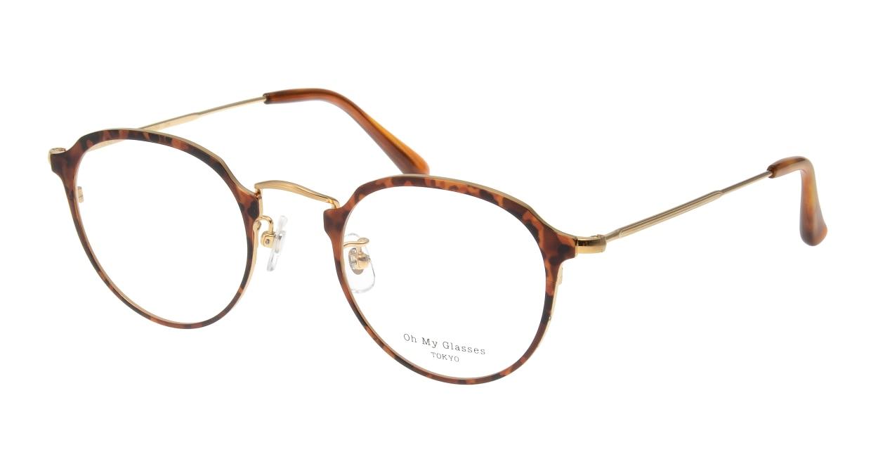 Oh My Glasses TOKYO Zoe omg-093-8-49 [メタル/鯖江産/丸メガネ/べっ甲柄]