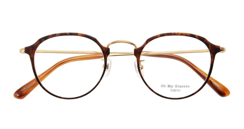 Oh My Glasses TOKYO Zoe omg-093-8-49 [メタル/鯖江産/丸メガネ/べっ甲柄]  3