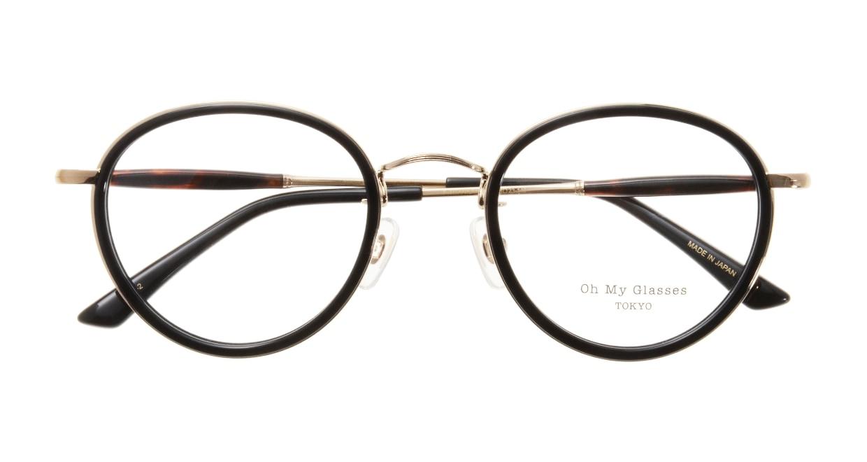 Oh My Glasses TOKYO Spencer omg-094-2-48 [黒縁/鯖江産/丸メガネ]  3
