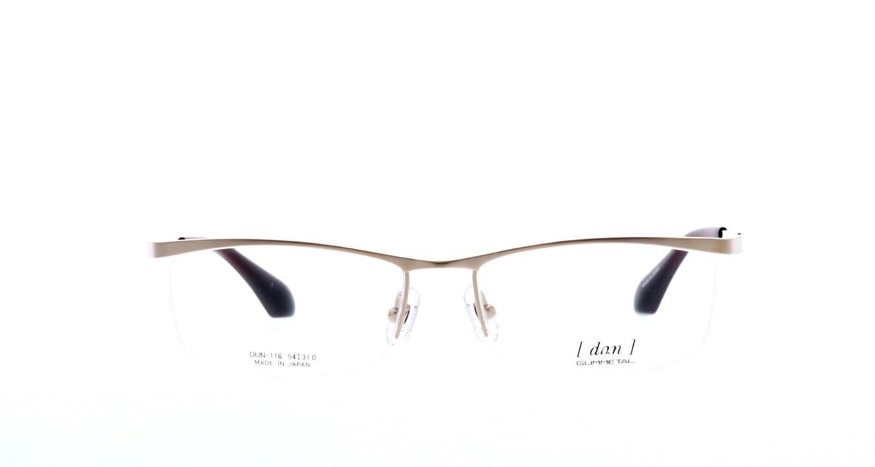 ドゥアン DUN-116-1 [メタル/鯖江産/ハーフリム/スクエア/ゴールド]