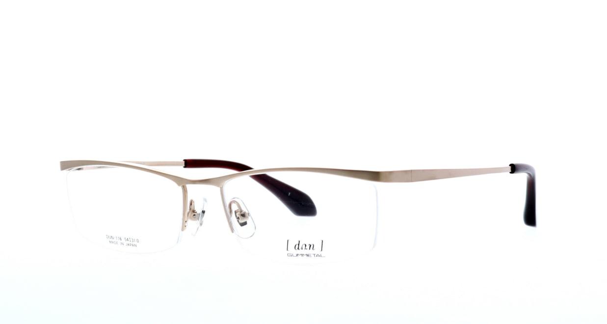 ドゥアン DUN-116-1 [メタル/鯖江産/ハーフリム/スクエア/ゴールド]  1