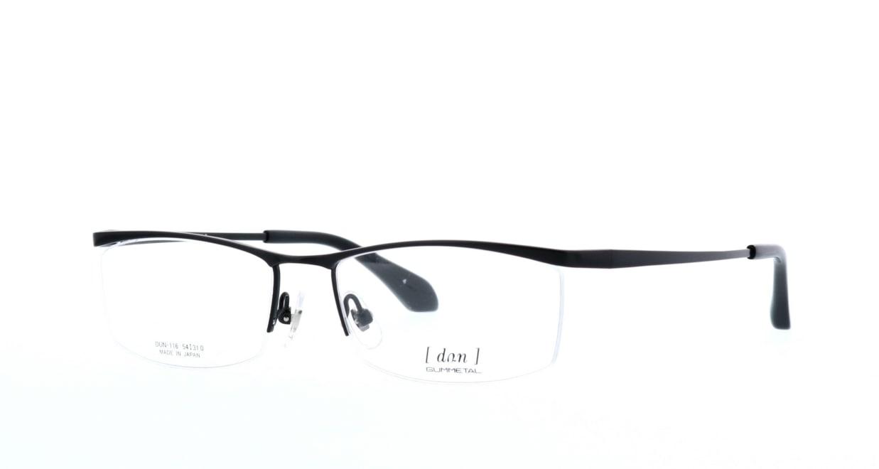 ドゥアン DUN-116-4 [メタル/鯖江産/ハーフリム/スクエア]  1