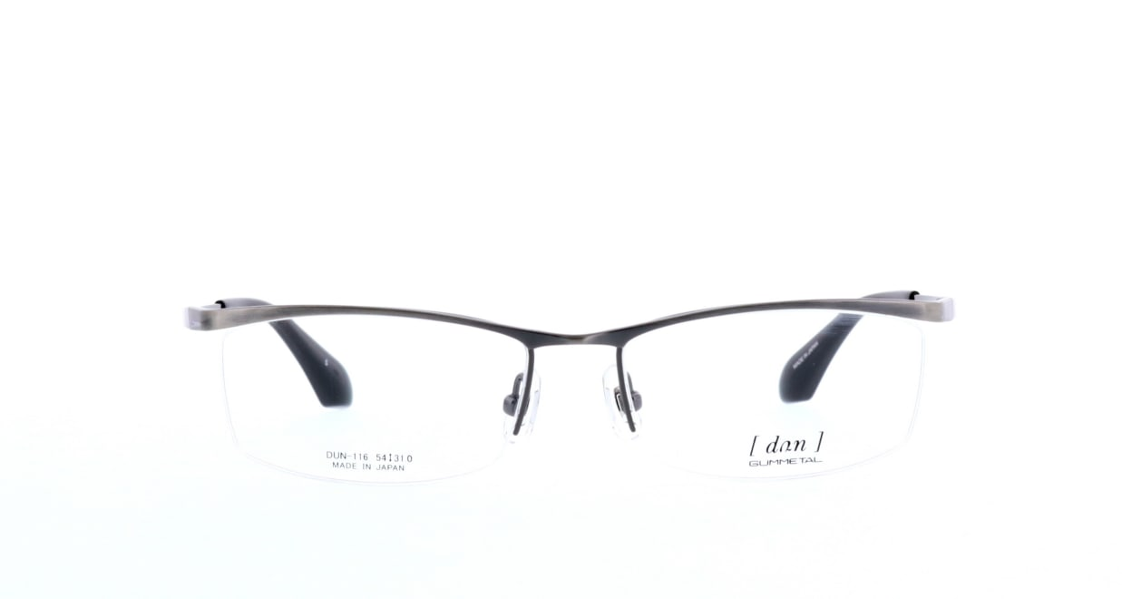 ドゥアン DUN-116-5 [メタル/鯖江産/ハーフリム/スクエア/グレー]