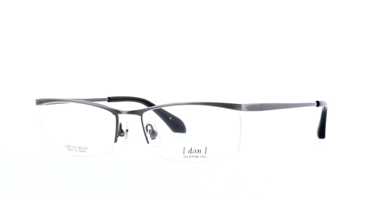 ドゥアン DUN-116-5 [メタル/鯖江産/ハーフリム/スクエア/グレー]  1