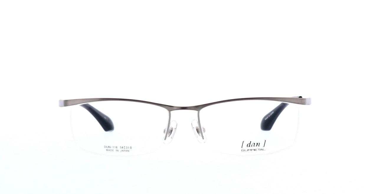 ドゥアン DUN-116-17 [メタル/鯖江産/ハーフリム/スクエア/シルバー]