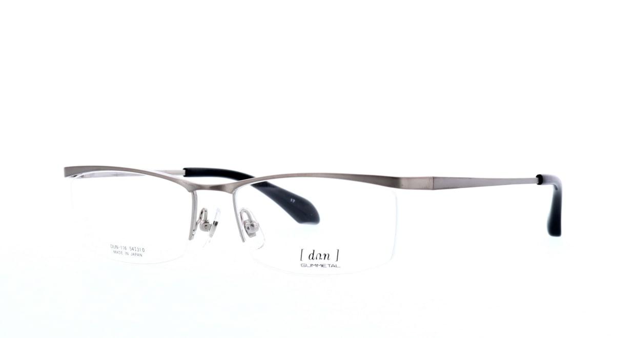 ドゥアン DUN-116-17 [メタル/鯖江産/ハーフリム/スクエア/シルバー]  1
