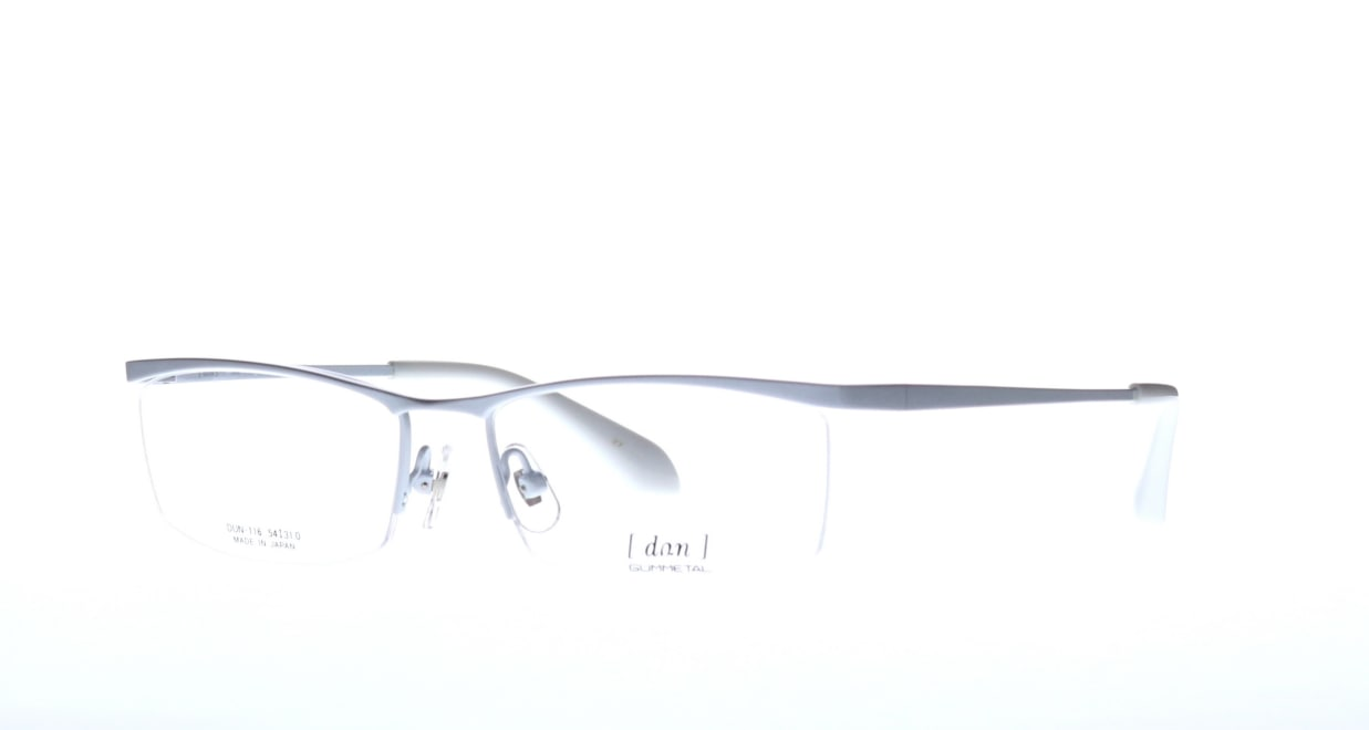 ドゥアン DUN-116-27 [メタル/鯖江産/ハーフリム/スクエア/白]  1