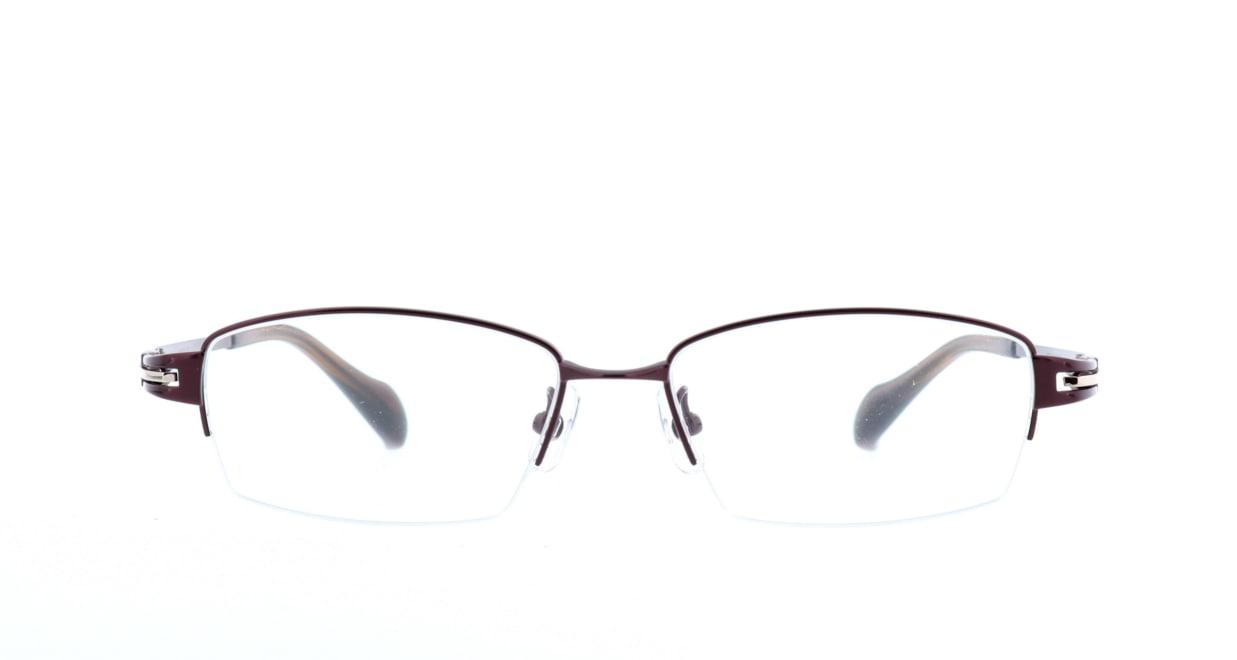 グロック GR1967-6 [メタル/鯖江産/ハーフリム/スクエア/茶色]