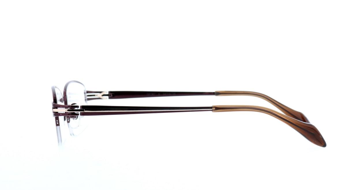 グロック GR1967-6 [メタル/鯖江産/ハーフリム/スクエア/茶色]  2