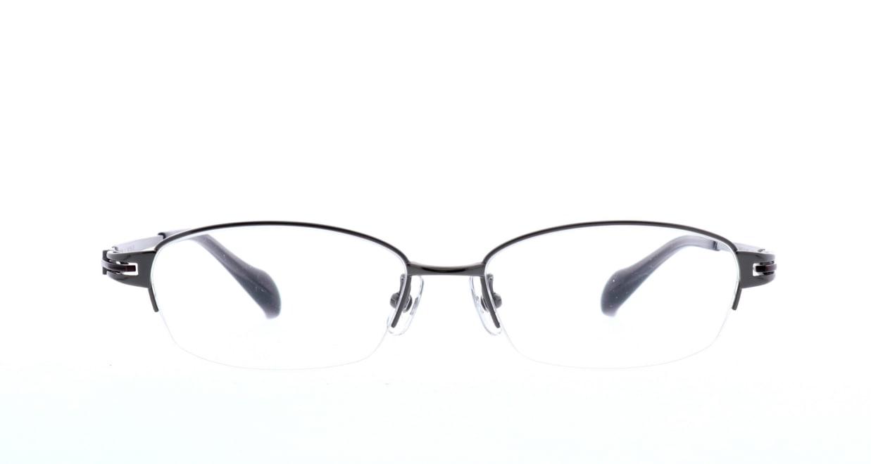 グロック GR1968-5 [メタル/鯖江産/ハーフリム/スクエア/グレー]